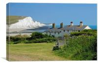 The Seven Sisters and Cuckmere Beach, Canvas Print