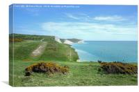 The Seven Sisters Footpath, Canvas Print