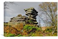 Brimham Rocks, Canvas Print
