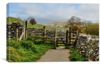 Malham Fields, Canvas Print