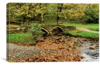 Wycoller Packhorse bridge over the Beck, Canvas Print