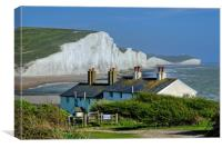 The Seven Sisters from Cuckmere Haven., Canvas Print