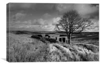 Top Withens Yorkshire Dales, Canvas Print