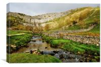 Malham Cove Yorkshire Dales, Canvas Print