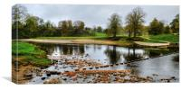 Bolton Abbey Stepping Stones, Canvas Print