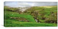 Malham Cove and hills, Canvas Print