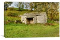 Old Stone Barn Malham , Canvas Print