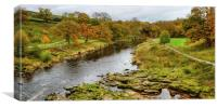 The River Wharfe Yorkshire, Canvas Print