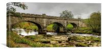 The Nidd Aquaduct Yorkshire, Canvas Print