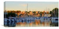 Evening in Porto Cristo Harbour, Canvas Print