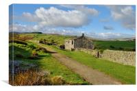 Ruins on the Bronte Way, Canvas Print