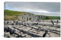 Limestone Pavement above Malham Cove, Canvas Print