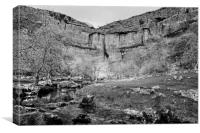 Malham Cove Monochrome, Canvas Print
