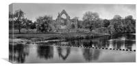 Bolton Abbey monochrome, Canvas Print
