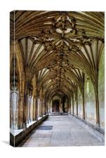 Canterbury Cathedral Cloisters, Canvas Print
