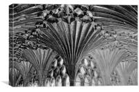 Canterbury Cathedral Cloisters detail, Canvas Print