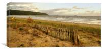 Early evening Sand Bay Somerset, Canvas Print