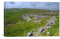 Above Malham Cove, Canvas Print