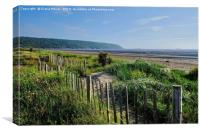 Sand Bay Beach Somerset, Canvas Print