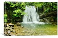 Janets Foss Waterfall Yorkshire, Canvas Print