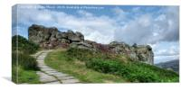 The Cow and Calf Rocks Ilkley , Canvas Print