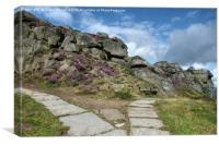 The Cow and Calf Seat Ilkley Moor, Canvas Print