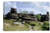 Brimham Rocks , Canvas Print