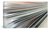 Open fanned leaves of Book, Canvas Print