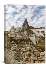 Cave homes on Goreme Hill, Canvas Print