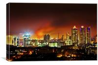 Fire in the hold Bandra Mumbai, Canvas Print
