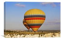 Close to the edge in a Balloon, Canvas Print