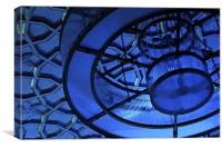 Blue shades on the lights, Canvas Print