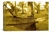 Resort Hammocks, Canvas Print