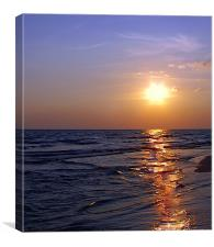 Brushed Love of the Sunset, Canvas Print