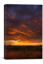 Fire in the sky...., Canvas Print
