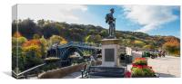 Ironbridge Memorial Shropshire, Canvas Print