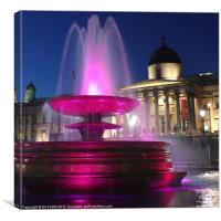 National Gallery Fountain, Canvas Print