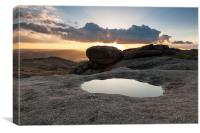 Sunset over Higger Tor, Canvas Print
