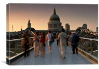 Millennium Bridge people, Canvas Print