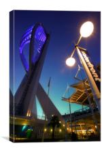 Portsmouths Spinnaker Tower Illuminated at dusk, Canvas Print