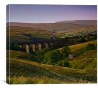 Yorkshire Dales Railway Viaduct, Canvas Print