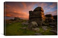 Dartmoor Sunset 1, Canvas Print