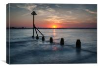 West Wittering Sunset, Canvas Print