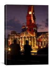 Portsmouth Guildhall VE Day Illumination, Canvas Print