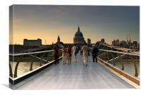 Millennium Bridge - London, Canvas Print