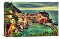 Welcome to the Cinque Terre, Canvas Print