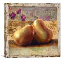 Two Pears Still Life, Canvas Print