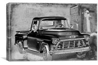 Classic Chevrolet Pickup, Canvas Print