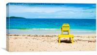 The Yellow Chair, Canvas Print