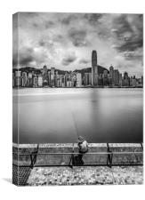 Hong Kong Fisherman, Canvas Print